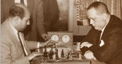 Los ajedrecistas Pomar y Lehmann