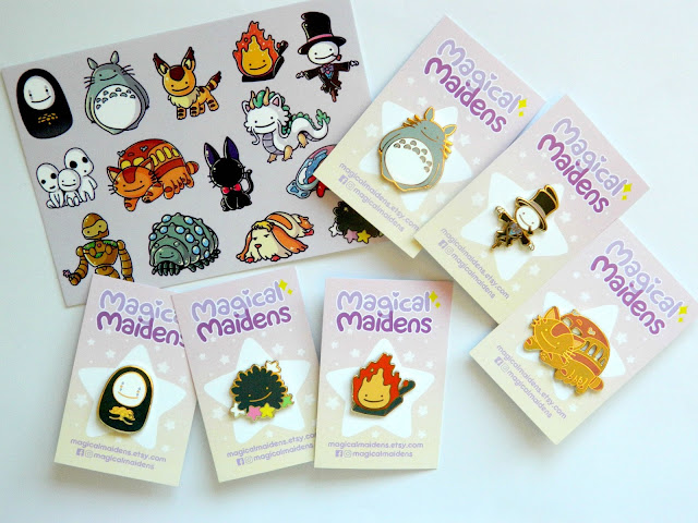 Magical Maidens Pins
