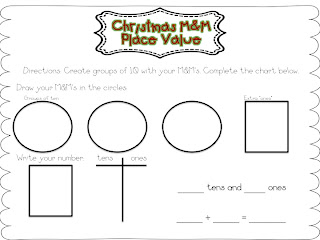 First Grade Fanatic!: Christmas M&M Place Value and