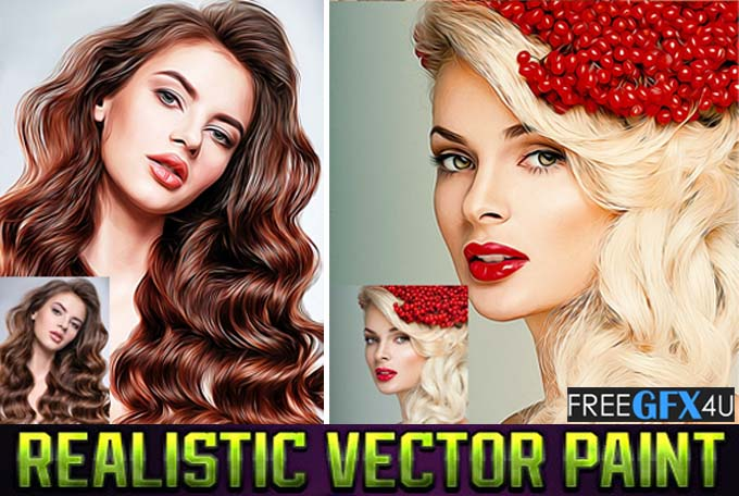 Ultra Vector Paint Photoshop Action