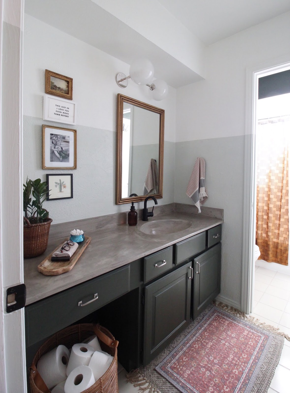 We've lived in our house a whole year!! Check out the tour and a round up of projects I've done. It's been great!   House Homemade budget friendly bathroom