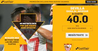 betfair supercuota Europa League Sevilla gana al Akhisar 8 noviembre