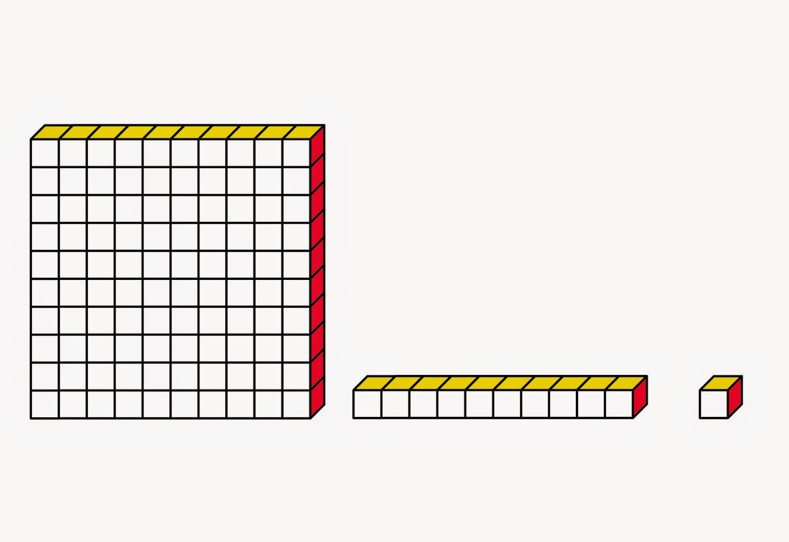 MEDIAN Don Steward mathematics teaching: base 10 (Dienes) blocks