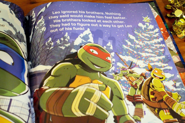 The sewer den cowabunga christmas merry mutants big golden book christmas tree lurking in the background its not hidden but its a wheres waldo like adventure searching for any holiday visuals in merry mutants sciox Image collections