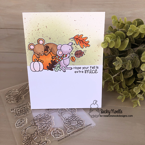 Hope your fall is extra mice by Becky features Autumn Mice by Newton's Nook Designs; #newtonsnook