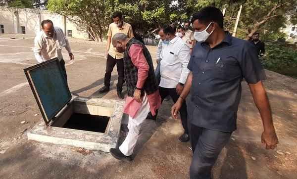 ballabhgarh-mla-minister-moolchand-sharma-visit-water-booster