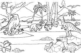 Dinosaur World Coloring Sheet Images And Photo