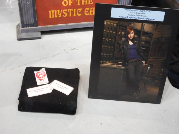 Fortune Teller Booth ticket props Warehouse 13