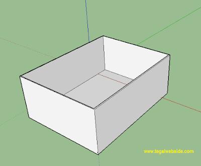 Cara Membuat Lubang Jendela dan Pintu pada dinding di Sketchup