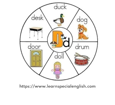 words that start with a D letter for kids with pictures
