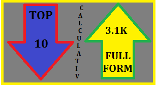 Top 10 Calculative 3.1K Full Forms