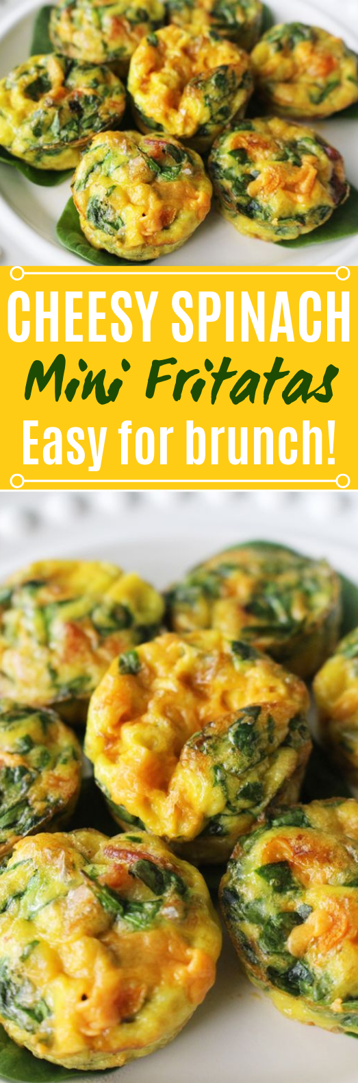 Cheesy Spinach Mini Frittatas #healthy #breakfast