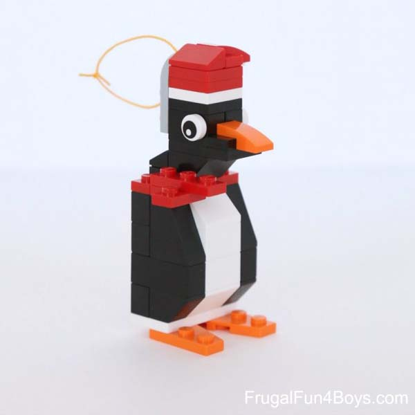 Lego penguin Christmas ornament