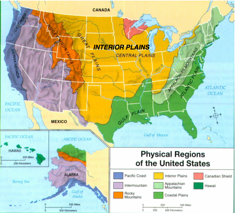 Landforms Of The United States Of America And USA Landforms Map - Landforms of the united states