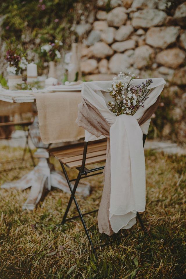decoracion silla de boda con arpillera - Blog Mi Boda