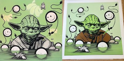 "Star Wars ""Yoda"" Screen Print by The London Police"