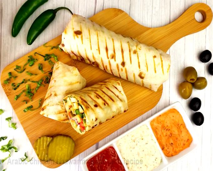 Arabic chicken shawarma sandwich recipe