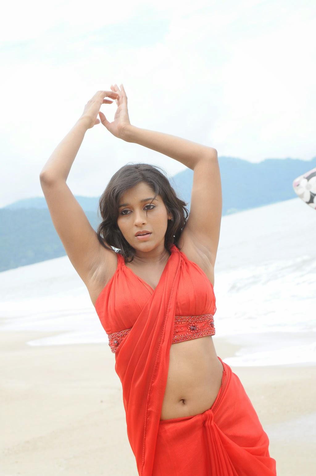 Actress Chaitra Saree Below Navel Show Photos #Chaitra