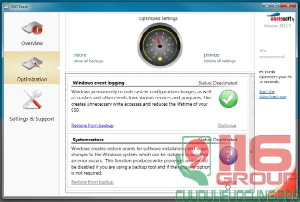 Phần mềm tăng tốc ổ cứng SSD