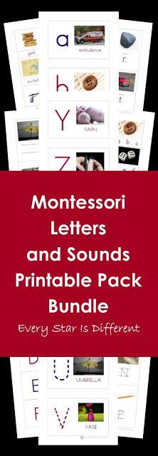 Montessori Letters and Sounds Printable Pack Bundle in Action
