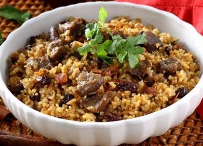 nasi kebuli kambing sederhana