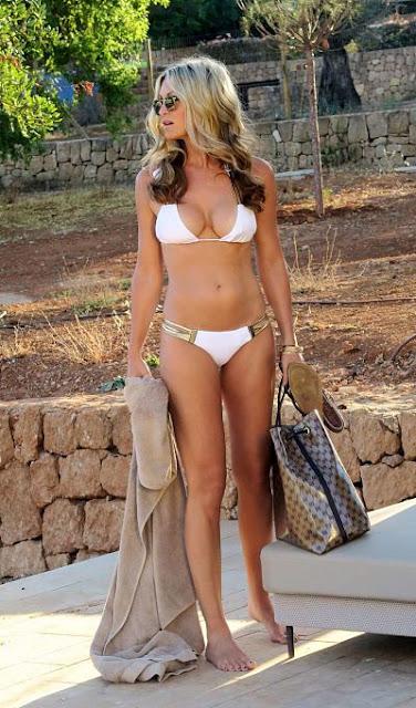 Caprice Bourret in White Bikini