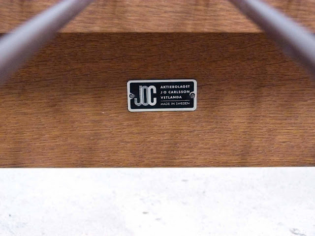 J.O. Carlsson Midcentury Sofa Daybed Label