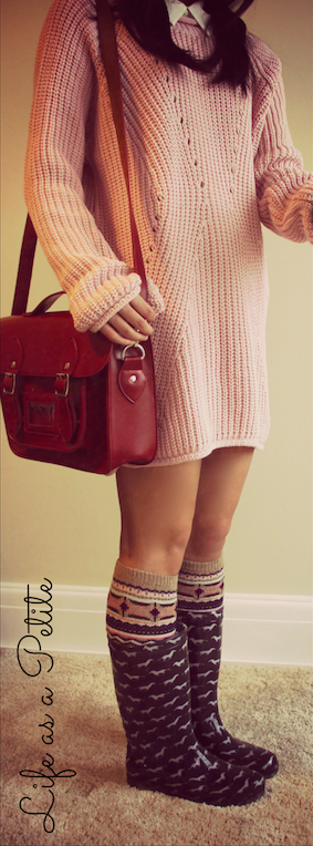 Pink Missguided Jumper Dress
