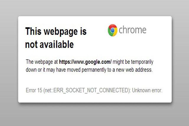 مشكلة عدم فتح المواقع على متصفح جوجل كروم