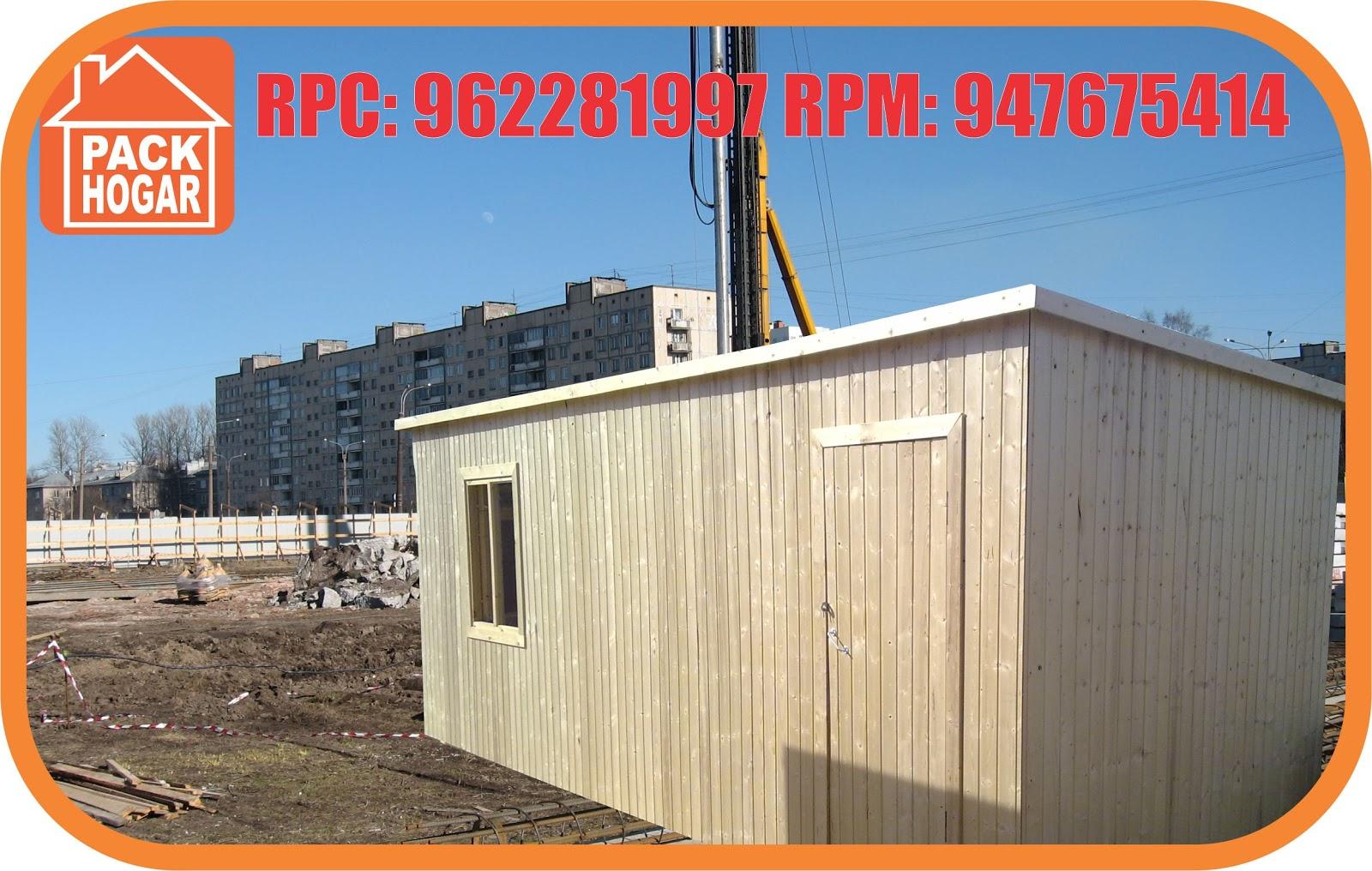Casetas prefabricadas para oficinas en obras packhogar for Casetas para terrazas