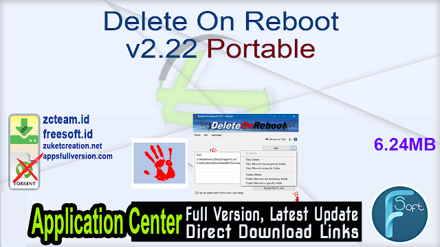 Delete On Reboot v2.22 Portable