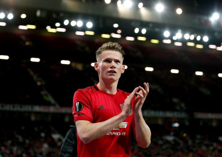 Manchester United midfielder Scott McTominay