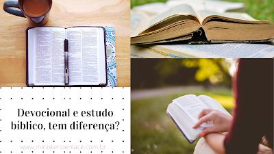 devocional estudo bíblico tem diferrença