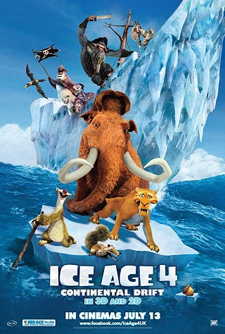 Ice Age Continental Drift 2012 Dual Audio Hindi 300MB HDRip 480p