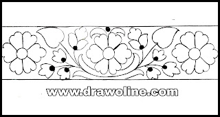 Saree border design drawings for hand embroidery designs/hand embroidery designs images free download of 2020