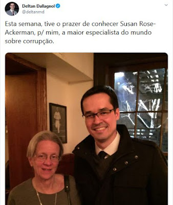 Twitter de Dallagnol com Susan Rose-Ackerman