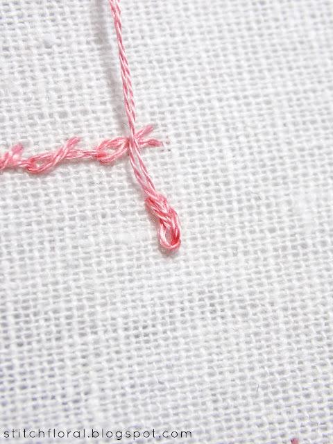 Twisted chain stitch, Rosette chain stitch and Oyster stitch