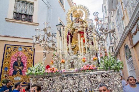 Horario e itinerario de la procesión de Nuestra Señora de los Desamparados hoy en Cádiz