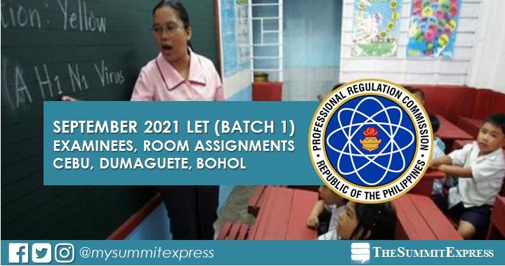 September 2021 LET in Cebu, Dumaguete, Bohol