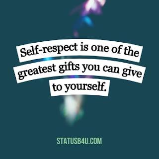 status on self respect