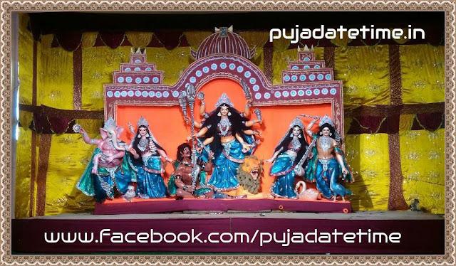 Sarbajanin Durga Puja Pandal in Kushmandi, Live Photo