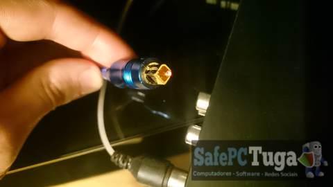cabo óptico de áudio
