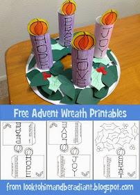 http://looktohimandberadiant.blogspot.com/2014/11/kids-advent-wreath-free-printables.html