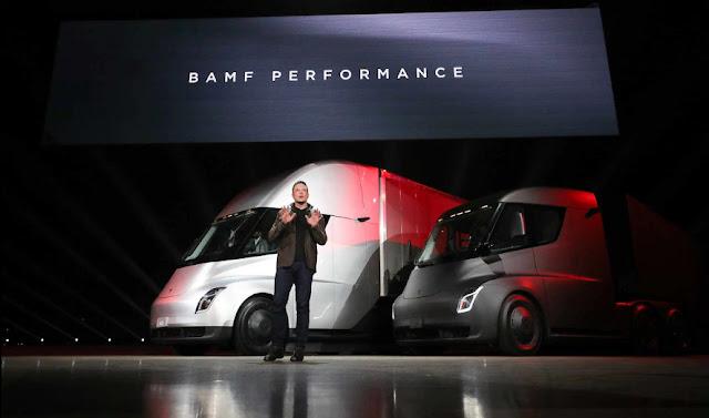 Встречайте грузовик Tesla, называемый Tesla Semi