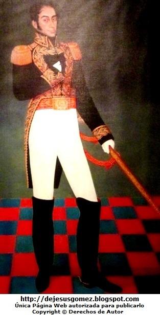 Foto de Simón Bolivar de cuerpo entero. Foto de Simón Bolívar tomada por Jesus Gómez