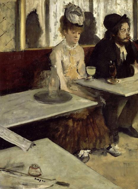 Эдгар Дега - Любительница абсента (В кафе) (1873)