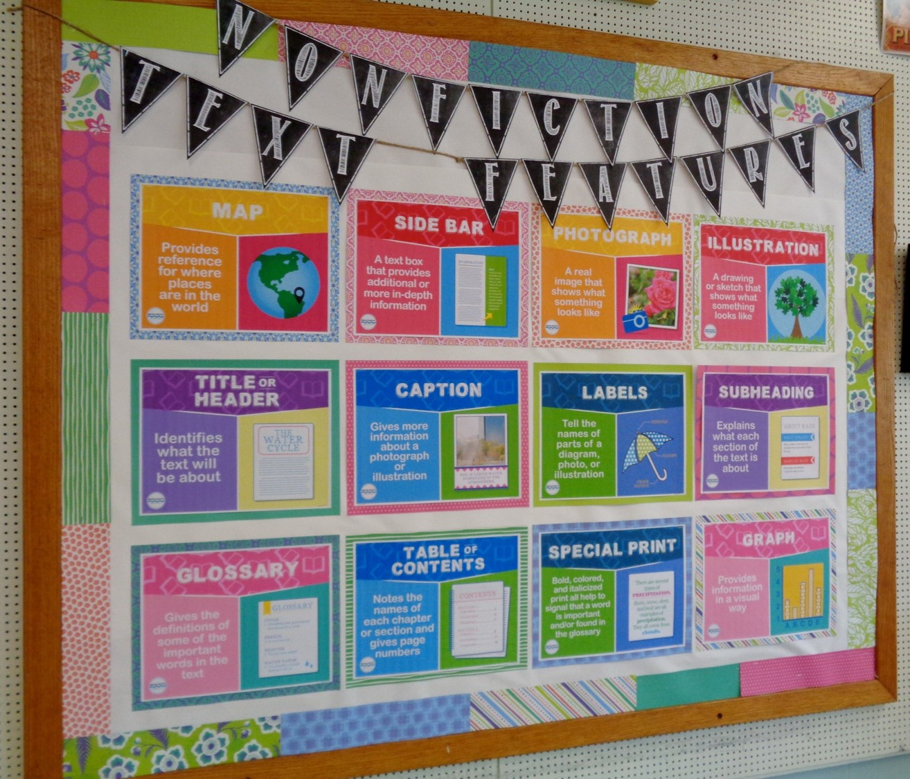 Brain waves instruction nonfiction text features bulletin for I can bulletin board ideas