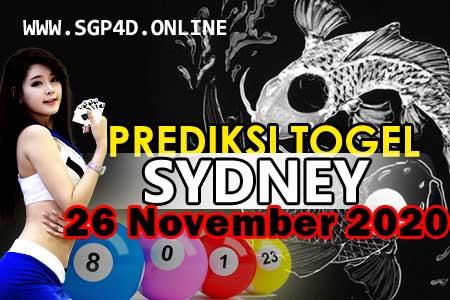 Prediksi Togel Sydney 26 November 2020