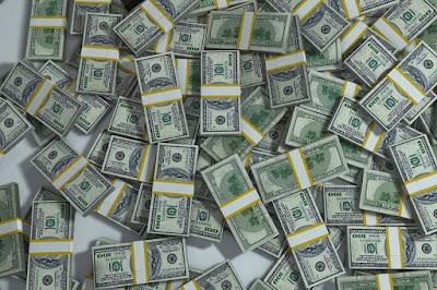 Foto de dinheiro. O que você faria com um milhão?
