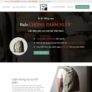 template blogspot bán hàng landing page